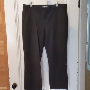 Tailored black professional crop pants